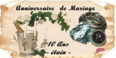 anniversaires de mariage ann es autres articles. Black Bedroom Furniture Sets. Home Design Ideas